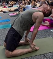 yoga in the square Aug 2016